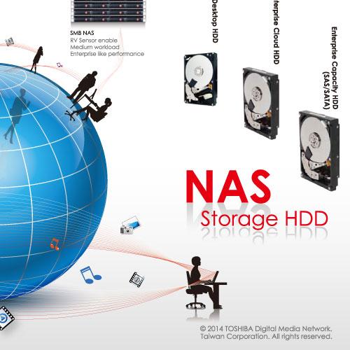 NAS硬碟DM設計|台灣東芝