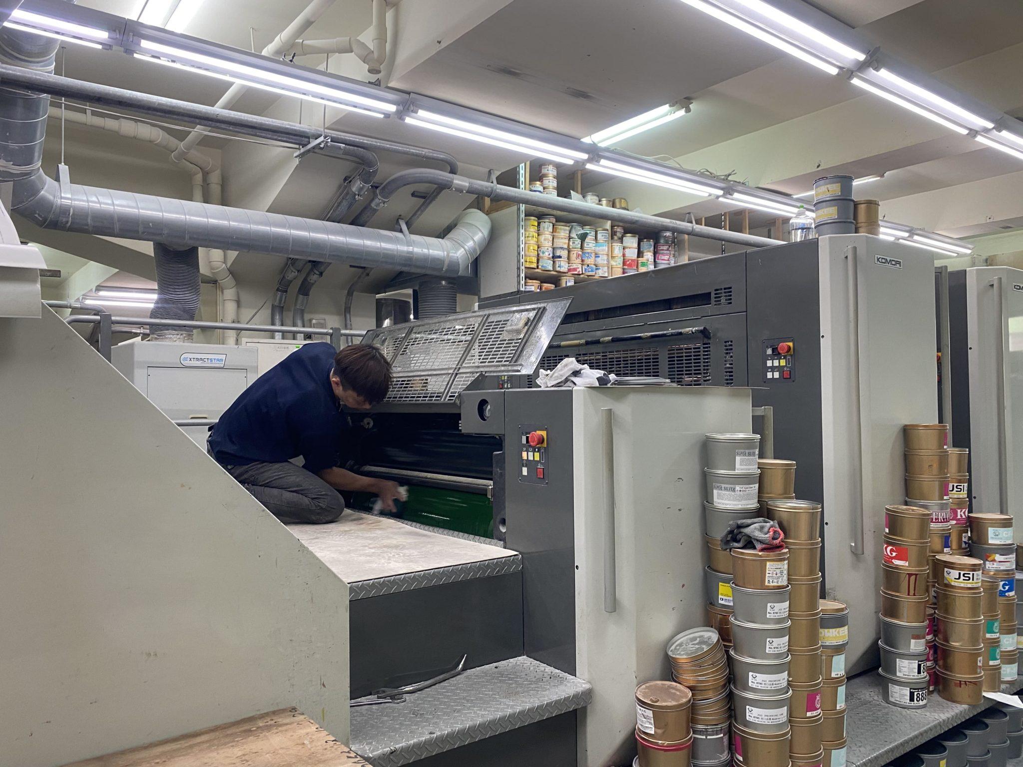 清理印刷機